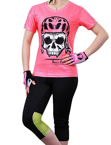 cheap Cycling Clothing-cheji® Women's Short Sleeve Cycling Jersey - Red Pink Dark Pink Bike Jersey Top Quick Dry Sports Other Lycra Mountain Bike MTB Road Bike Cycling Clothing Apparel