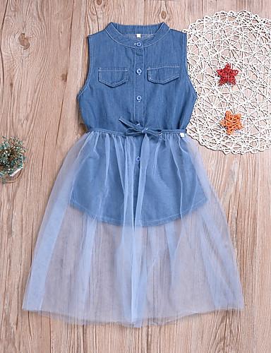 שמלה ללא שרוולים אחיד בנות ילדים / פעוטות