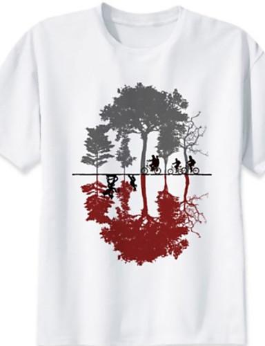 cheap Men's Tees & Tank Tops-Men's T-shirt - Geometric Print