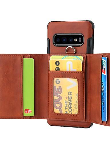 Etui Käyttötarkoitus Samsung Galaxy S9 / S9 Plus / S8 Plus Lomapkko / Korttikotelo / Iskunkestävä Takakuori Yhtenäinen Kova PU-nahka / TPU