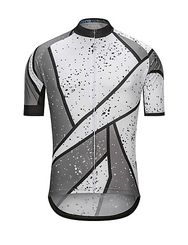 cheap Cycling Clothing-Men's Short Sleeve Cycling Jersey - Gray+White Bike Jersey Top Sports Terylene Clothing Apparel / High Elasticity
