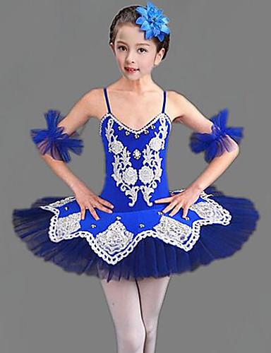 voordelige Shall We®-Kinderdanskleding / Ballet Outfits Meisjes Opleiding / Prestatie Polyester / Netstof Combinatie / Kristallen / Bergkristallen Mouwloos Kleding / Armbanden
