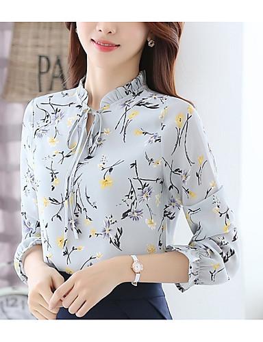 povoljno Ženske majice-Bluza Žene Grafika Slim Crn