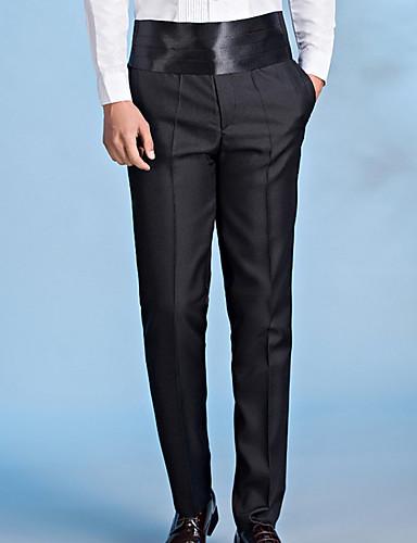 30304acf9 رجالي أساسي مناسب للبس اليومي بدلة بنطلون - لون سادة أبيض أسود أحمر L XL XXL