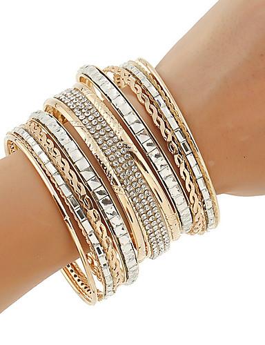 abordables Bijoux à la Mode-Femme Alliage Basique Diamant Couleur Pleine / bracelet