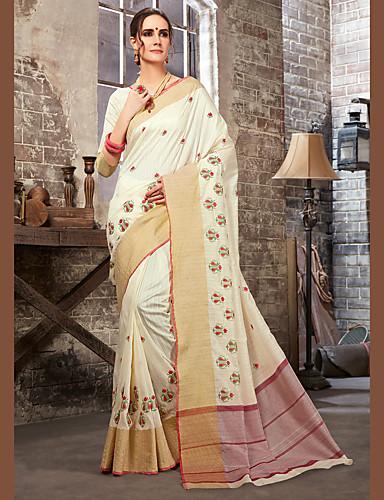 Недорогие Этнический и культурный костюмы-Индийская девушка Болливуд Взрослые Жен. азиатский Пайетки Churidar Salwar Suit Сари Назначение Выступление Хлопок Длинный Платье