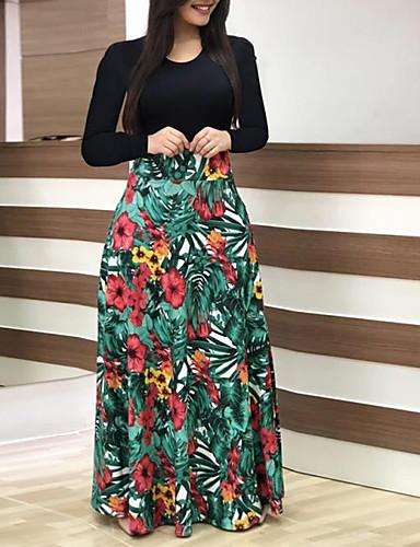 Χαμηλού Κόστους Γυναικεία Φορέματα-Γυναικεία Θήκη Φόρεμα - Πουά Φλοράλ Μακρύ 2d16ce6e0e7