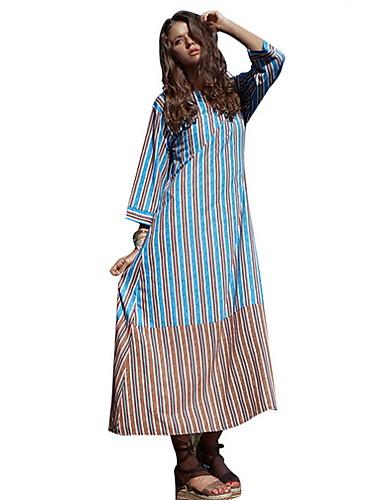 09b898984dc2 Γυναικεία Μπόχο Κομψό Σε γραμμή Α Φόρεμα - Ριγέ Μακρύ