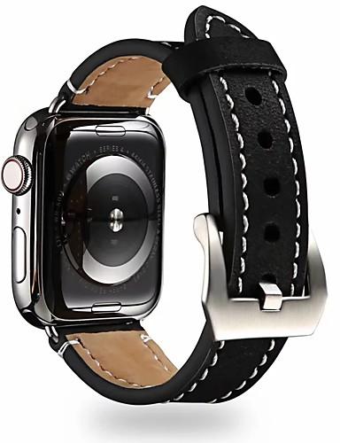 Watch Band varten Apple Watch -sarja 5/4/3/2/1 / Apple Watch Series 4/3/2/1 Apple Perinteinen solki Aito nahka Rannehihna
