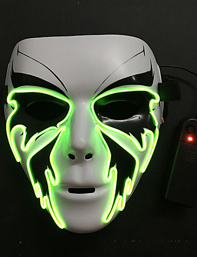 abordables Cosplay & Disfraces-Parca Máscara Adulto Hombre Halloween Halloween Mascarada Festival / Celebración Plásticos Blanco Traje carnaval LED