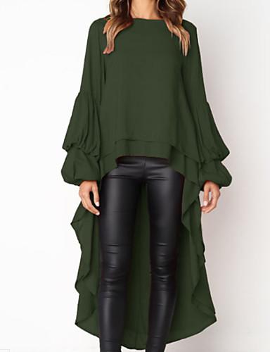 billige Dametopper-Tynn T-skjorte Dame - Ensfarget Grå