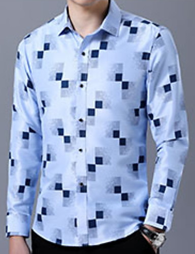 Camicia Per uomo Collage, Monocolore Blu marino XXL