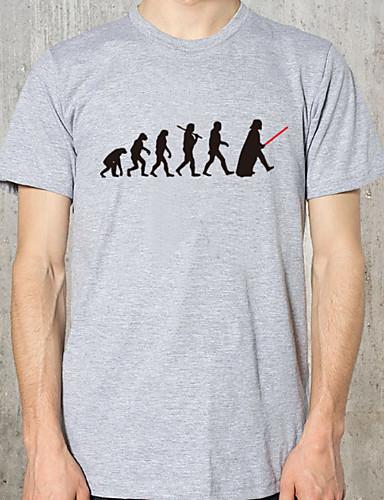 남성용 솔리드 라운드 넥 슬림 티셔츠 화이트 XL