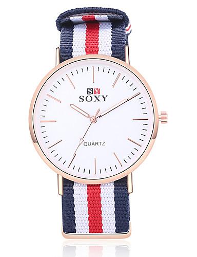 97176e82cfeb Mujer Reloj Deportivo Reloj de Vestir Reloj de Pulsera Cuarzo Acero  Inoxidable Nailon Caqui   Rose