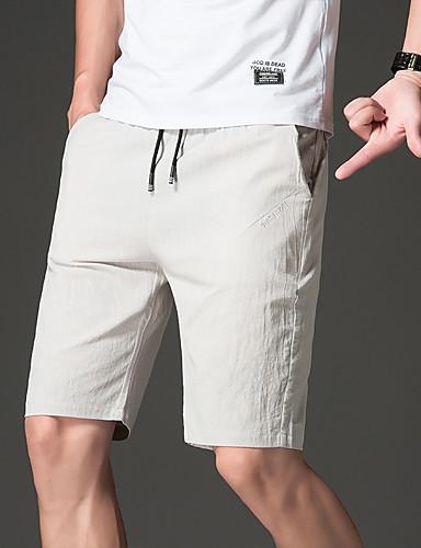 お買い得  メンズパンツ&ショーツ-男性用 スポーティー スウェットパンツ / ショーツ パンツ - 多色 オレンジ
