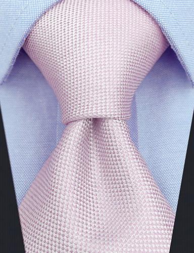 رخيصةأون ربطات العنق للرجال-ربطة العنق لون سادة / خملة الجاكوارد رجالي حفلة / عمل / أساسي