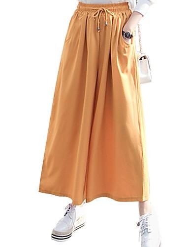 Per Donna Essenziale A Zampa Pantaloni - Tinta Unita Verde #07256655 Con Il Miglior Servizio