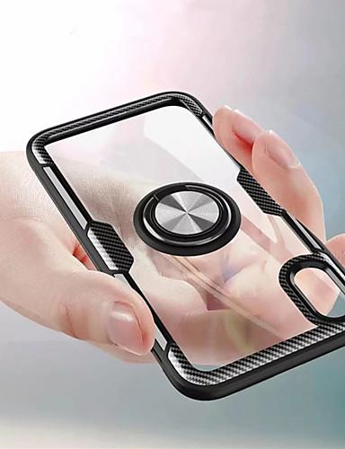 Etui Käyttötarkoitus Apple iPhone XS / iPhone XR / iPhone XS Max Sormuksen pidike Takakuori Yhtenäinen Kova PC