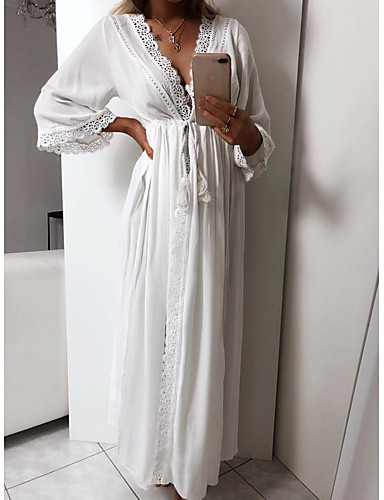 voordelige Maxi-jurken-Dames Strand Sexy Slank A-lijn Jurk Maxi