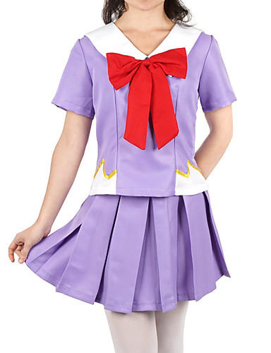 billige Cosplay og kostumer-Inspireret af The Future Diary Gasai Yuno Anime Cosplay Kostumer Japansk Cosplay Kostumer N / A Halsklud Til Dame