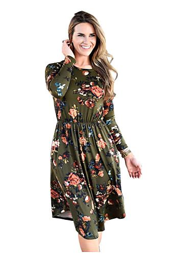 67247ea22b29 economico Abiti-Per donna Essenziale Fodero Vestito Fantasia floreale Al  ginocchio