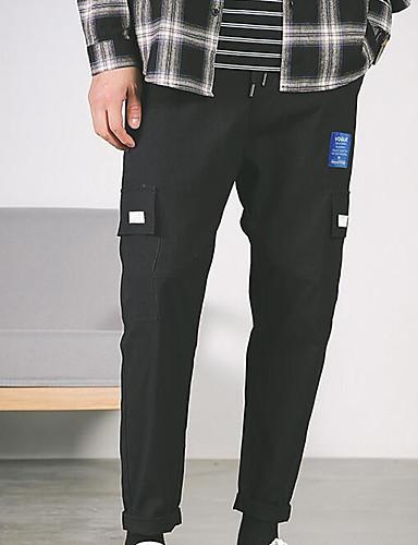 Pánské Základní Kalhoty chinos Kalhoty - Jednobarevné Oranžová Tmavě šedá Béžová XXL XXXL XXXXL