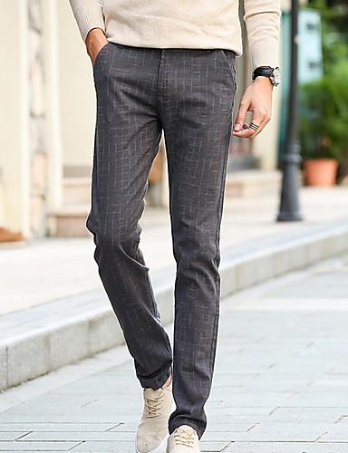 2019 Ultimo Disegno Per Uomo Essenziale Chino Pantaloni - Tinta Unita Blu Marino #07302531 Elegante E Grazioso