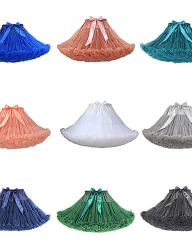 preiswerte Petticoat-Ballett 50er Kostüm Klassische / Traditionelle Lolita Damen Minimantel Tutu Krinoline Grün / Blau / Fuchsia Vintage Cosplay Party Leistung Prinzessin