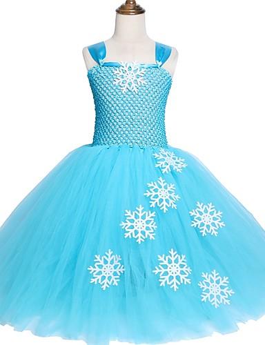 Alsa Snow Queen Princess Girl Tutu Dress Festa Di Compleanno Di Natale Regalo In Costume Decorato #07272636