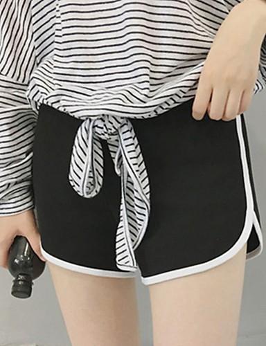 abordables Pantalons Femme-Femme Sportif Joggings Pantalon - Couleur Pleine Noir Blanche Gris M L