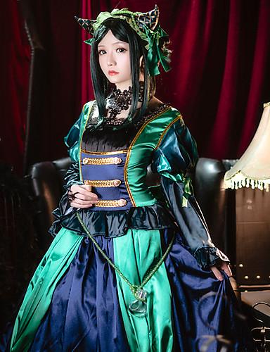 povoljno Anime kostimi-Inspirirana Crna Butler Sieglinde Sullivan Anime Cosplay nošnje Japanski Cosplay Suits Kolaž Dugih rukava Haljina / Šeširi Za Žene