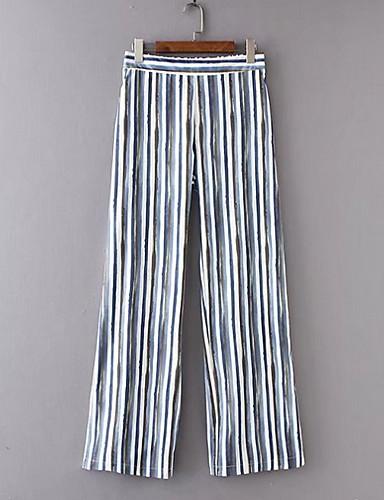 Per Donna Moda Città Chino Pantaloni - A Strisce Beige #07237220 Distintivo Per Le Sue Proprietà Tradizionali