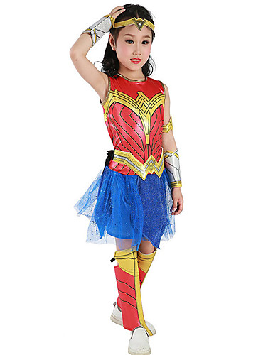 7ccc2b8f8bb2b Super Heroes Dress Cosplay Costume Outfits Girls' Movie Cosplay Cosplay  Halloween Red Dress Armlet Belt Halloween Carnival Masquerade Tulle Cloth /  Headwear