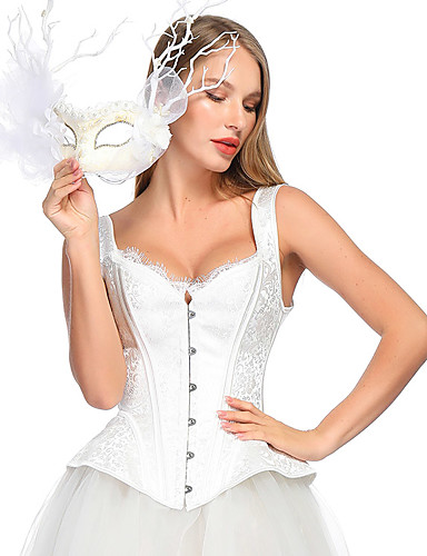 abordables Lingerie-Normal Polyester Corset Sexy Jacquard Mariage Ceinture / Ruban