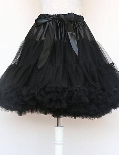 cheap Historical & Vintage Costumes-Ballet Classic Lolita 1950s Dress Petticoat Hoop Skirt Tutu Crinoline Women's Girls' Costume White / Black / Red Vintage Cosplay Cotton Party Performance Princess