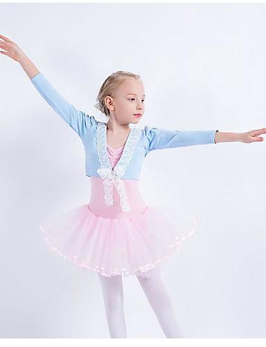 preiswerte Ballettbekleidung-Tanzkleidung für Kinder / Ballett Oberteile Mädchen Training Baumwolle / Elasthan Spitze Langarm Top
