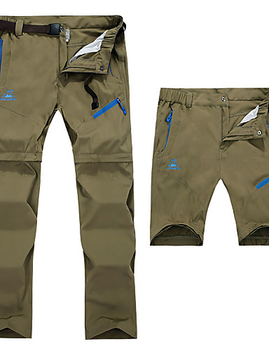 c14b497c34a8d Men's Hiking Pants Convertible Pants / Zip Off Pants Outdoor Waterproof  Breathable Moisture Wicking Quick Dry Spring Summer Pants / Trousers  Bottoms Camping ...