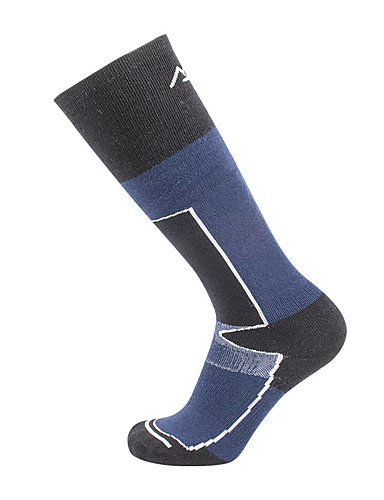 cheap Outdoor Clothing-Hiking Socks Compression Socks Knee high Socks 1 Pair Moisture Wicking Warm Quick Dry Reduces Chafing Stripes Cotton Autumn / Fall for Men's Women's Skiing Climbing Outdoor Black / Blue / Winter