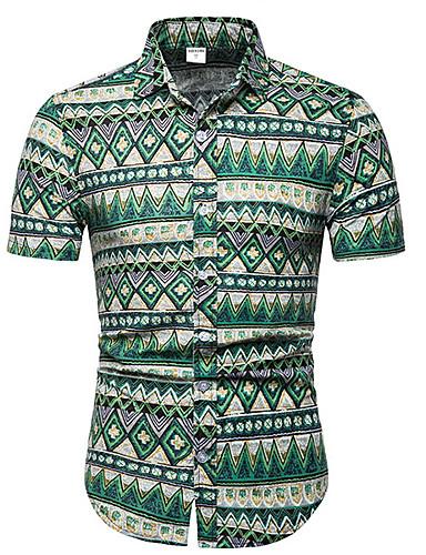 voordelige Herenoverhemden-Heren Grote maten - Overhemd Geometrisch Klaver
