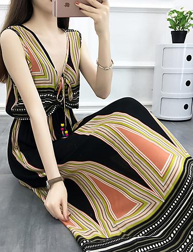 336cac43e فستان نسائي كلاسيكي عصري بوهو مطرز محاك بربطات بقع طويل للأرض هندسي