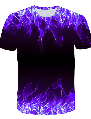 voordelige Heren T-shirts & tanktops-Heren Print T-shirt 3D Ronde hals Klaver