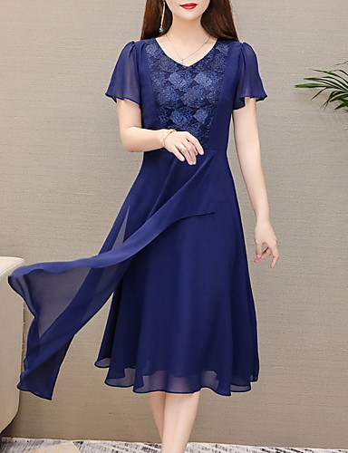 c564d8698356 cheap Women's Dresses-Women's Basic Chiffon Dress