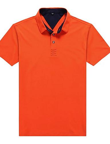 preiswerte Herren Polo Shirts-Herrn Solide - Grundlegend Polo, Hemdkragen Orange XL
