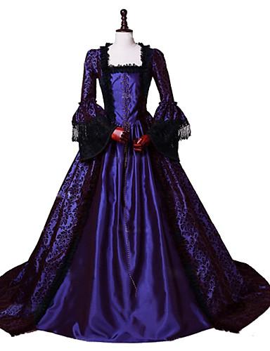 b8e74b137108 Princess Maria Antonietta Floral Style Rococo Victorian Renaissance Costume  Body Painting Colors Women's Party Costume Masquerade Purple Vintage  Cosplay ...