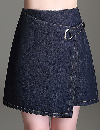cheap Shorts-Women's Basic Shorts Pants - Solid Colored Blue