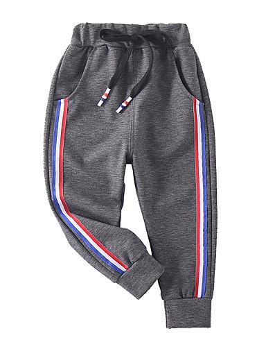 Děti Chlapecké Aktivní / Základní Jednobarevné / Barevné bloky / Patchwork Patchwork / Šňůrky Bavlna Kalhoty Černá