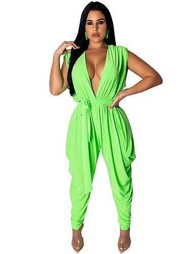 Aspirante Per Donna Essenziale Verde Tuta, Tinta Unita L Xl Xxl #07329971 Ultimo Stile