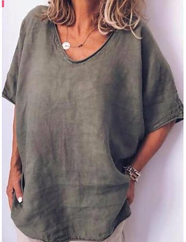 0ba7896fe6f cheap Women's Tops-Women's Daily Wear Plus