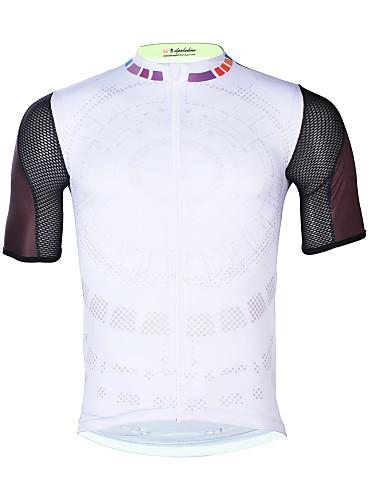 31e5ba7cc652 ILPALADINO Ανδρικά Κοντομάνικο Φανέλα ποδηλασίας - Λευκό Ποδήλατο Μπολύζες  Ανθεκτικό στην υπεριώδη ακτινοβολία Γρήγορο Στέγνωμα Αθλητισμός Ελαστίνη  Τερυλίνη ...