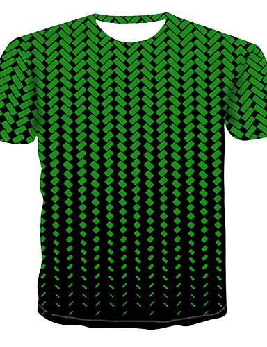 cheap Men's Tees & Tank Tops-Men's T-shirt - 3D Print Round Neck Red XXXXL